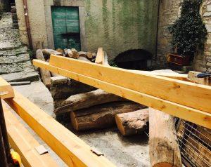 Castello di Pognana lavori in corso