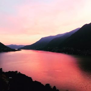 Pognana Lario tramonto